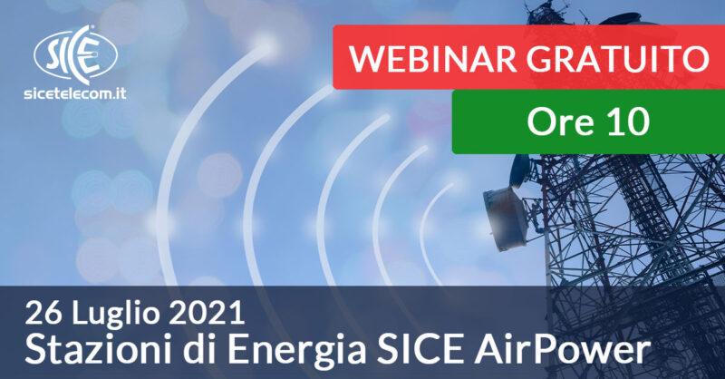 Webinar Stazioni di energia SICE AirPower 26 luglio 2021
