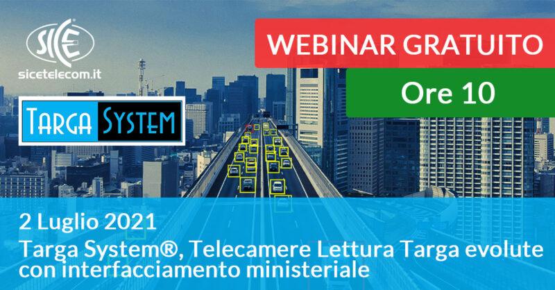 webinar targa system 2 luglio - SICE Telecomunicazioni